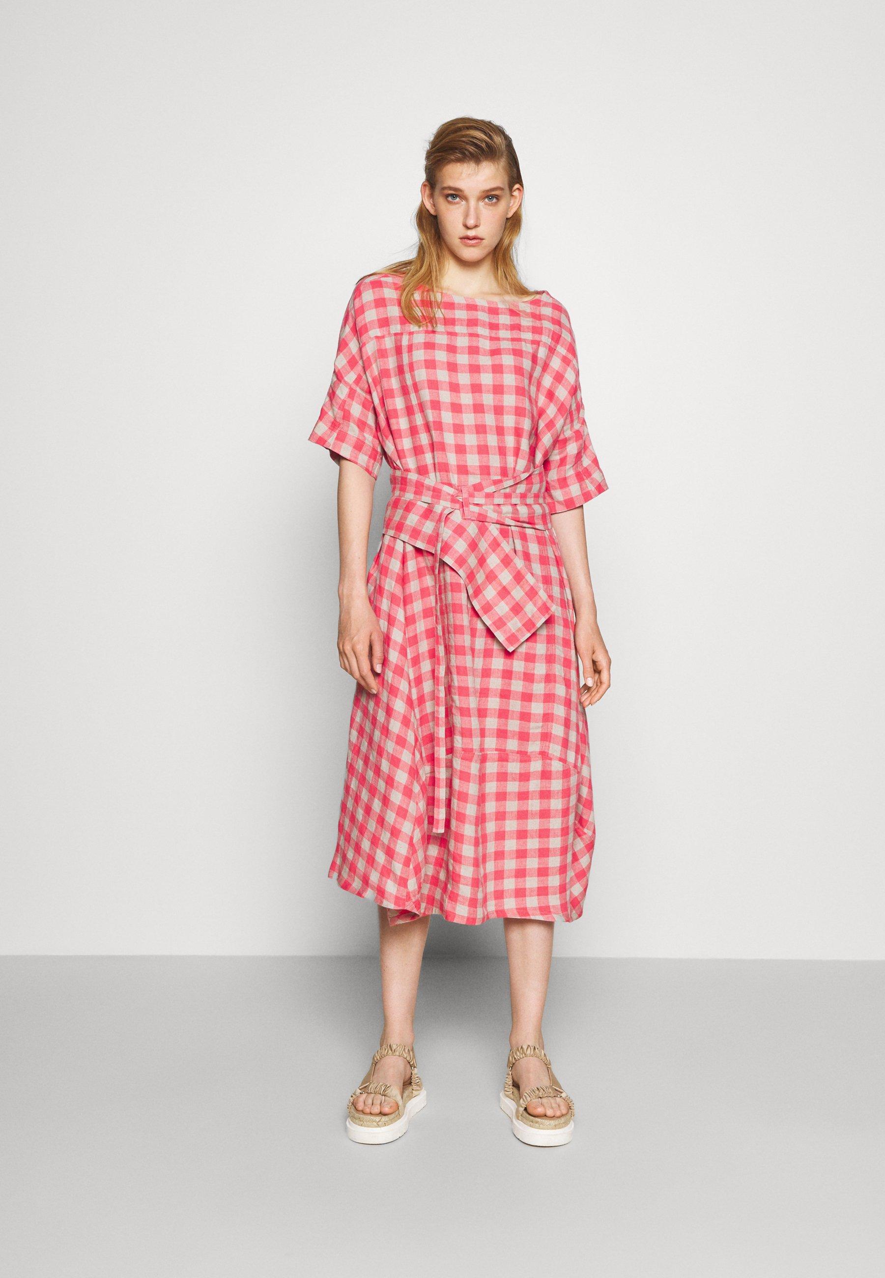 Women PIPETTE DRESS - Maxi dress - berry
