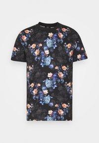 Jack & Jones PREMIUM - JPRBLAVINCENT TEE CREW NECK - T-shirt med print - black - 0