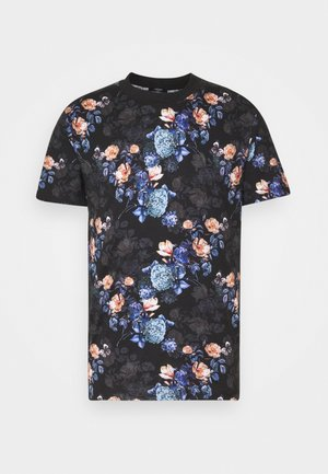 JPRBLAVINCENT TEE CREW NECK - Print T-shirt - black