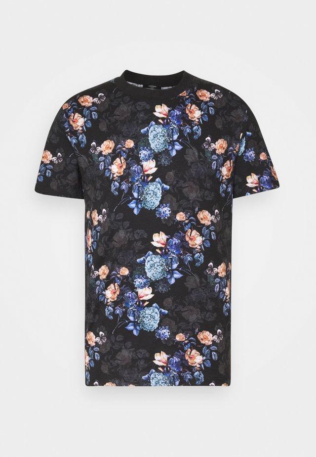 JPRBLAVINCENT TEE CREW NECK - T-shirts print - black