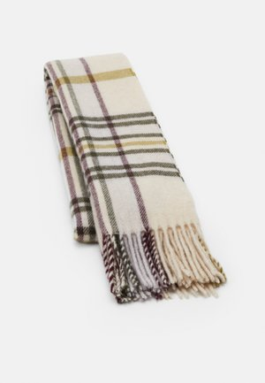 DIPPER CHECK  - Scarf - offwhite/green