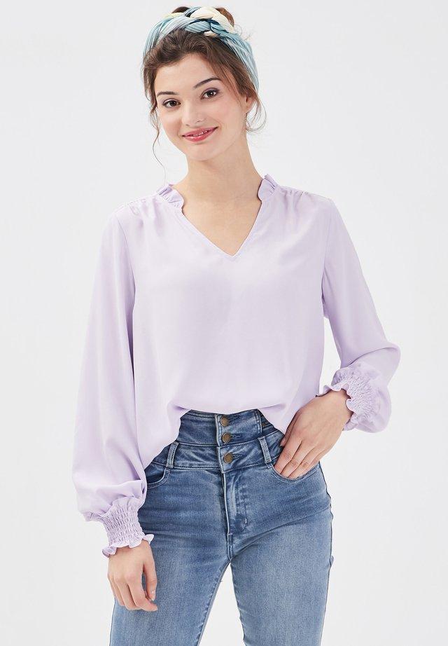 Blouse - violet clair