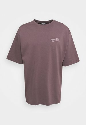 CIRCLE PLUM GREY WASHED UNISEX - T-shirt med print - grey