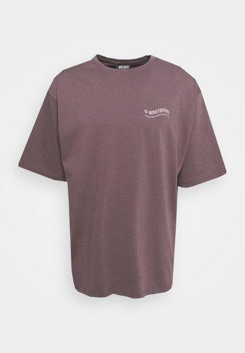 CIRCLE PLUM GREY WASHED UNISEX - Print T-shirt - grey
