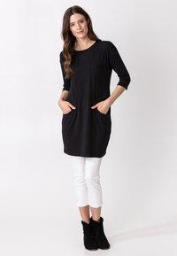 Indiska - LINDEN - Jersey dress - dkgrey - 1