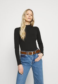 Anna Field - 2 PACK - Long sleeved top - black/black - 1