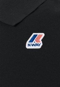 K-Way - VINCENT CONTRAST STRETCH UNISEX - Polo shirt - black - 2