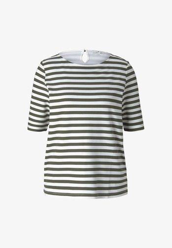 Long sleeved top - green horizontal stripe