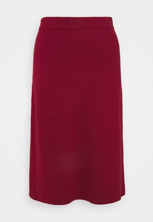 CORE - A-line skirt - bordeaux red