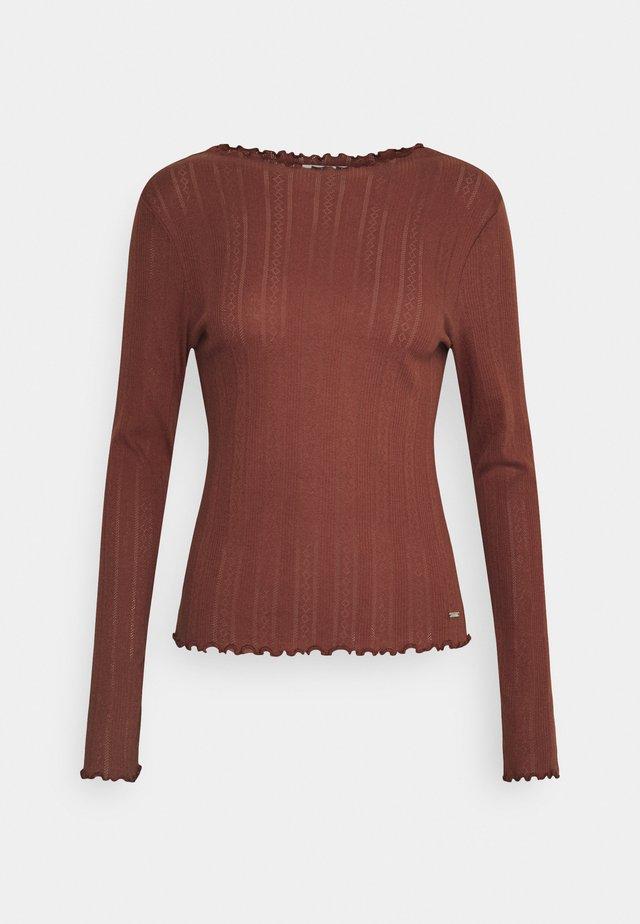 POINTELLE TEE - Långärmad tröja - rust orange