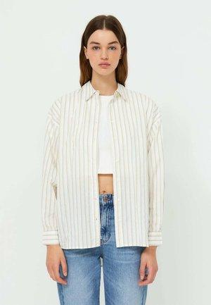 Button-down blouse - stone