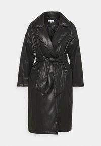 TIE COAT - Zimní kabát - black