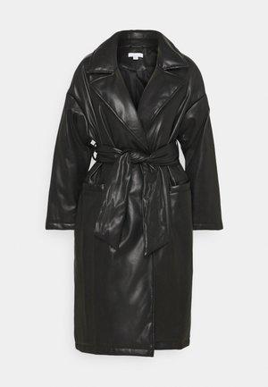 TIE COAT - Abrigo clásico - black