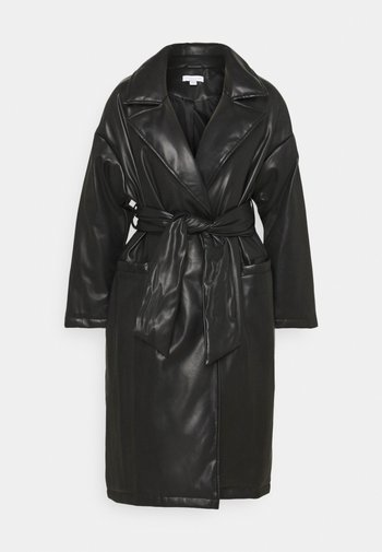 TIE COAT - Mantel - black