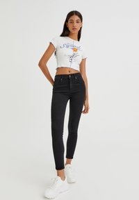 PULL&BEAR - PUSH UP - Jeans Skinny Fit - black - 3