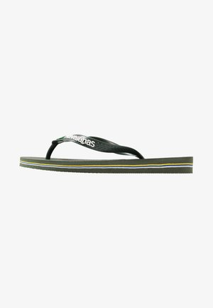 BRASIL LOGO - Pool shoes - green olive