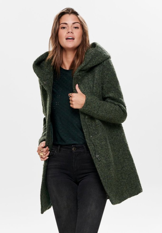 ONLY - ONLSEDONA COAT - Cappotto corto - forest night