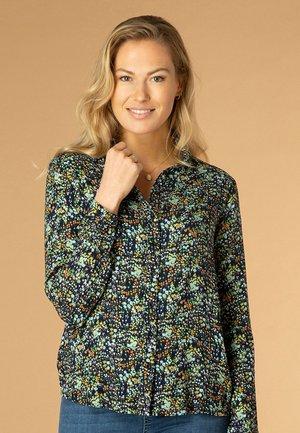 TJITSKE - Button-down blouse - navy/multi-colour