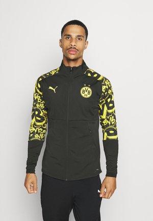BVB BORUSSIA DORTMUND STADIUM JACKET - Klubtrøjer - black/cyber yellow