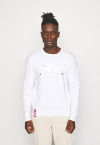 Alpha Industries - BASIC - Sweatshirt - white/yellow gold - 0