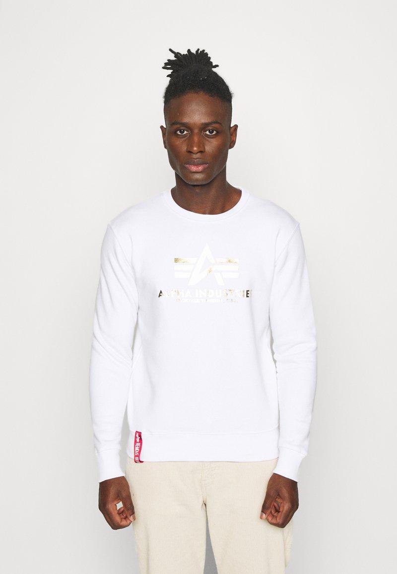 Alpha Industries - BASIC - Sweatshirt - white/yellow gold