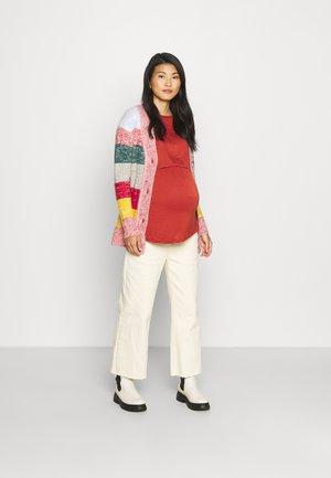TWO IN ONE LONG SLEEVE 2 PACK - Bluzka z długim rękawem - white/red