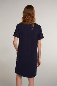 Oui - Day dress - white blue - 3