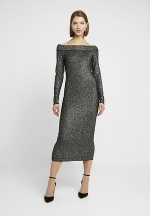 ONLETTA DRESS - Robe fourreau - black/silver