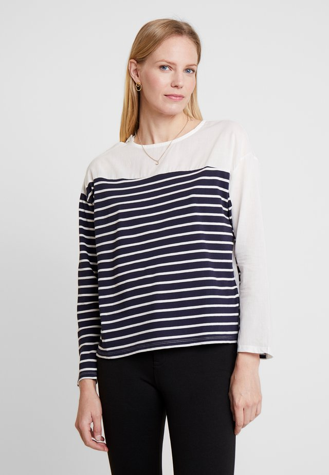 STRIPE DETAILED LONG SLEEVE - T-shirt à manches longues - white/multi color