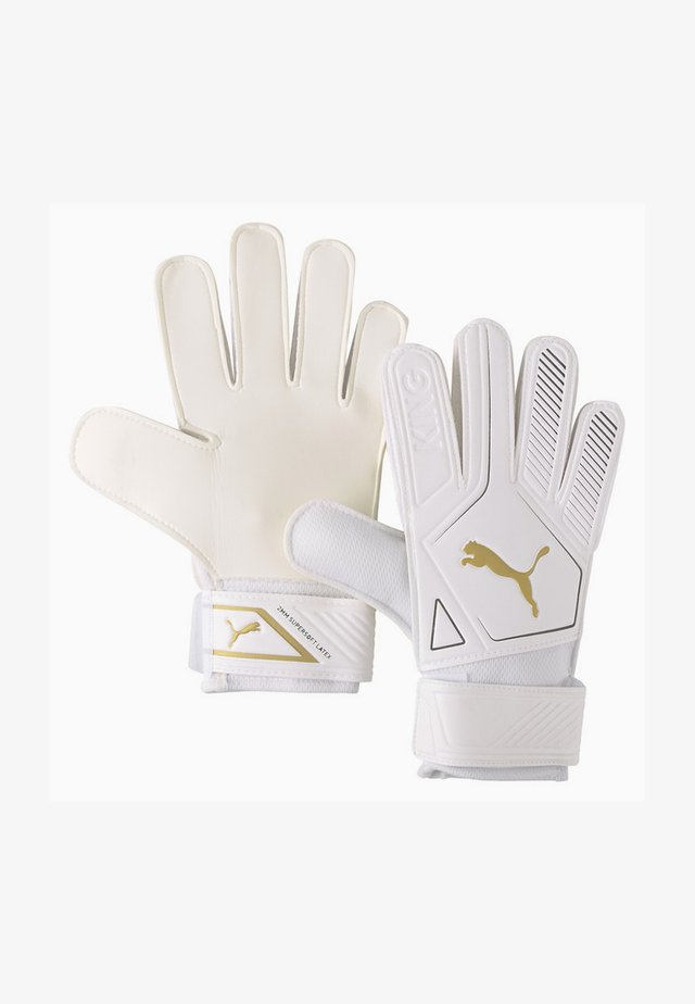 PUMA KING 4 GOALKEEPER GLOVES UNISEXE - Sormikkaat - puma white-gold-puma black