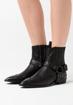 SLFABIGAIL BOOT - Cowboy/biker ankle boot - black