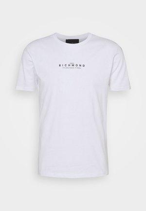 AMBUR - Print T-shirt - white