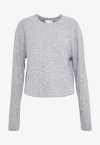 Topshop Tall - SPLIT BACK CUT AND SEW - Pullover - grey - 3