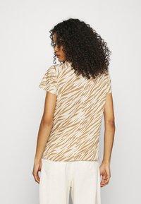 Banana Republic - COZY SLUB CREW - Print T-shirt - beige/light brown - 2