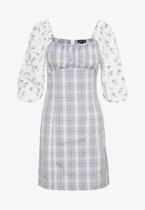PERENNIAL FLORAL MINI DRESS - Vestido informal - blue