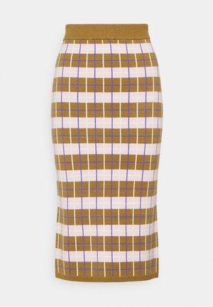 YASHOPE SKIRT - Pouzdrová sukně - butternut