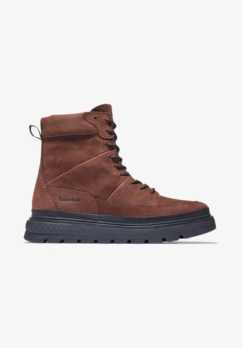 RAY CITY  - Platform ankle boots - soil