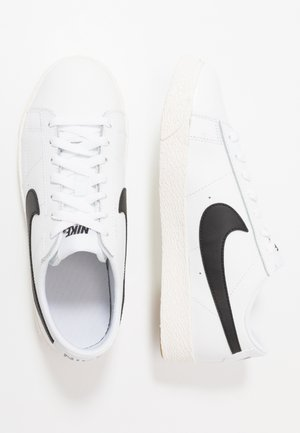 BLAZER - Baskets basses - white/black/sail/light brown