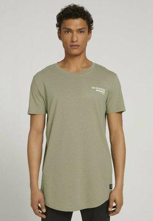 Basic T-shirt - silver olive melange