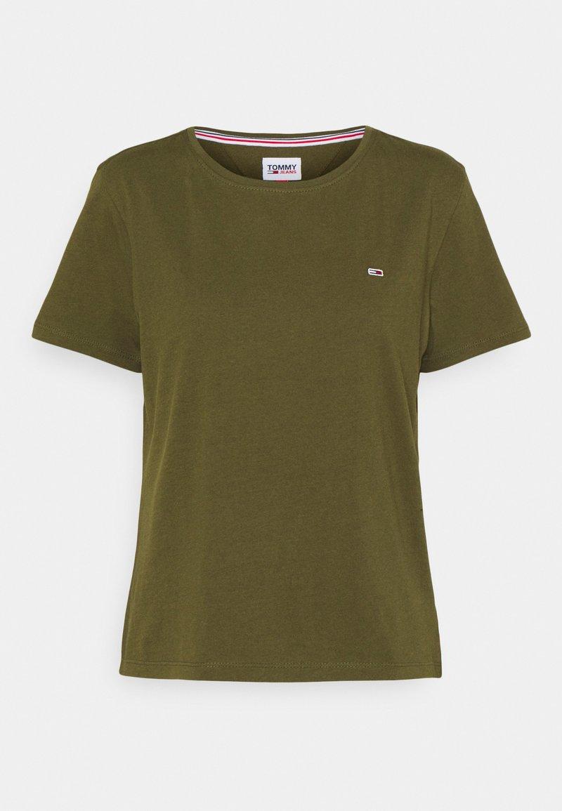 Tommy Jeans - SOFT  - Basic T-shirt - northwood olive