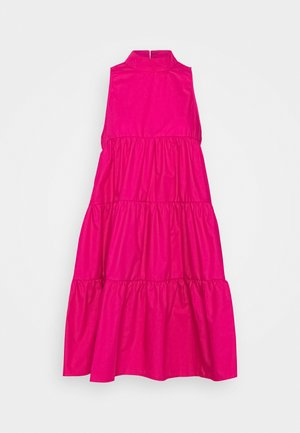 POPLIN SLEEVELESS TIERED SMOCK DRESS - Day dress - pink