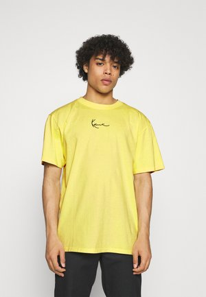SMALL SIGNATURE WASHED TEE UNISEX - T-shirt con stampa - light yellow
