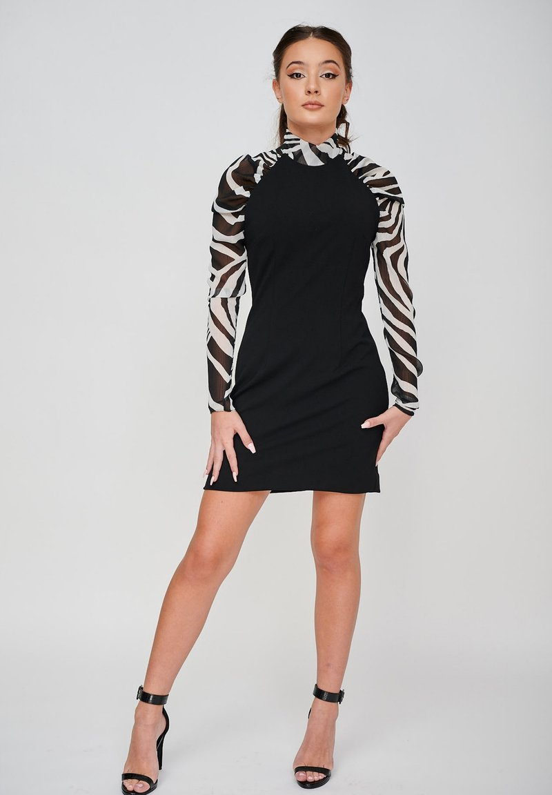 Yan Neo London - THE EOS ZEBRA  - Shift dress - black