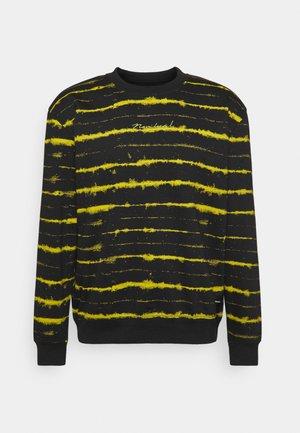 STRIPE TIE DYE CREW - Sweater - black