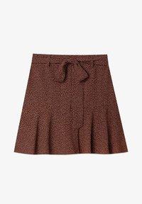 FLIESSENDER PRINT - A-line skirt - brown