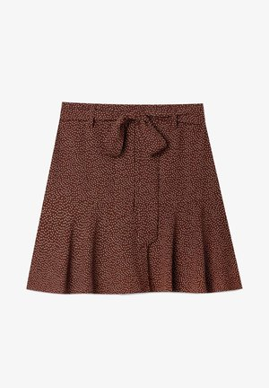 FLIESSENDER PRINT - A-line skirt - brown