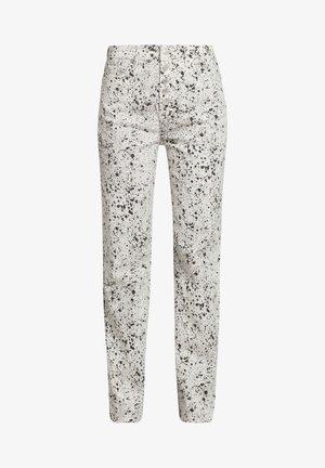 EFFET PEINT - Straight leg jeans - black white