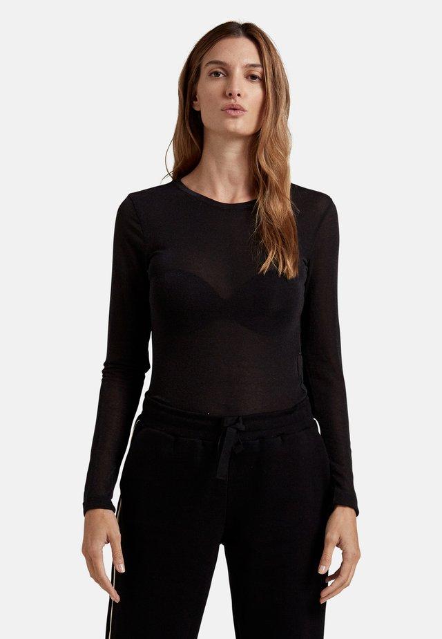 MISTO - Maglietta a manica lunga - nero