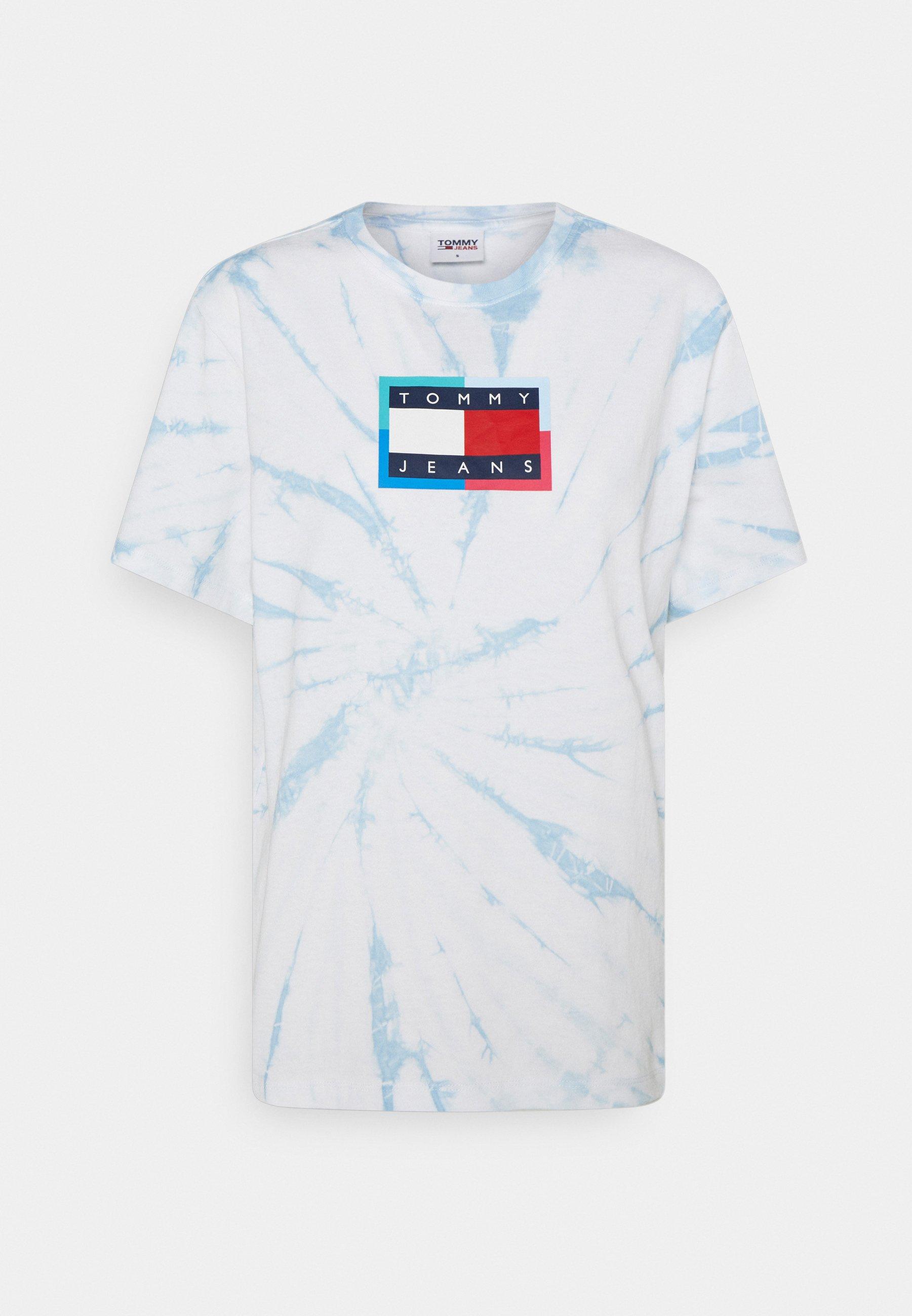 Women RELAXED TIE DYE FLAG TEE - Print T-shirt