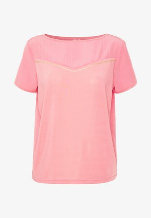 ONPJEWEL BOATNECK TRAINING TEE - T-shirts med print - strawberry pink/white gold